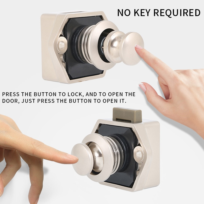 Botón de bloqueo de coche Camper para ferretería de muebles, botón pulsador de 20mm para captación de Motor de barco RV, cerradura de cajón de gabinete de hogar, bloqueos de botón