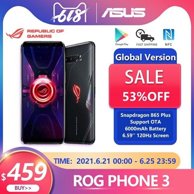 ASUS ROG Phone 3 глобальная версия Snapdragon 865 плюс игровой телефон ROG 3 5G смартфон 8G Оперативная память 128G Встроенная память NFC 6000 мА/ч, 144 Гц активно матричные осид