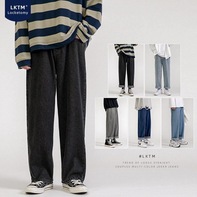 Модные новые мужские бриджи с широкими штанинами, Мужская Уличная одежда, пять цветов, пять размеров, мужские джинсовые штаны