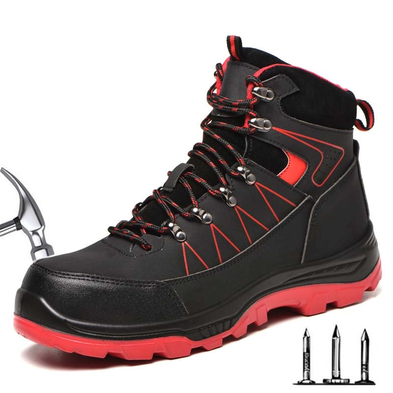 أحذية الرجال حذاء امن للعمل غطاء صلب لأصبع القدم مقاوم للماء غير قابل للتدمير الأحذية عدم الانزلاق الدافئة العسكرية التكتيكية