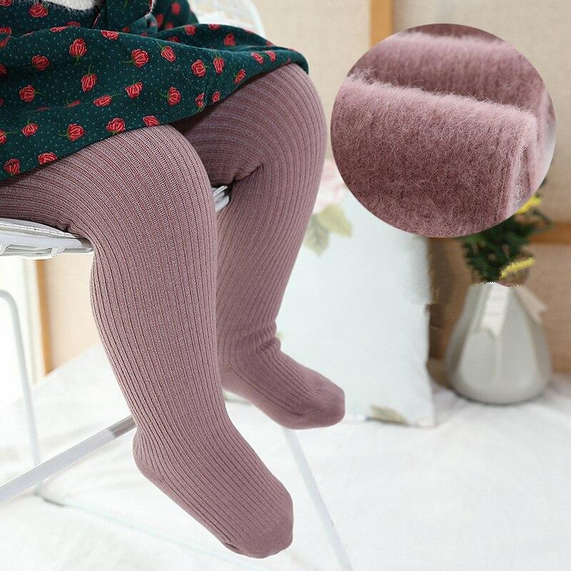 Medias para bebés para niñas, medias cálidas, medias sólidas para bebés recién nacidos, medias de algodón, pantimedias