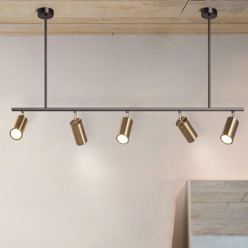 Vergulde Lampenkap Led Spotlight Hanglamp Modern Design Opknoping Spot Voor Eetkamer Gold Metal Suspension Armatuur