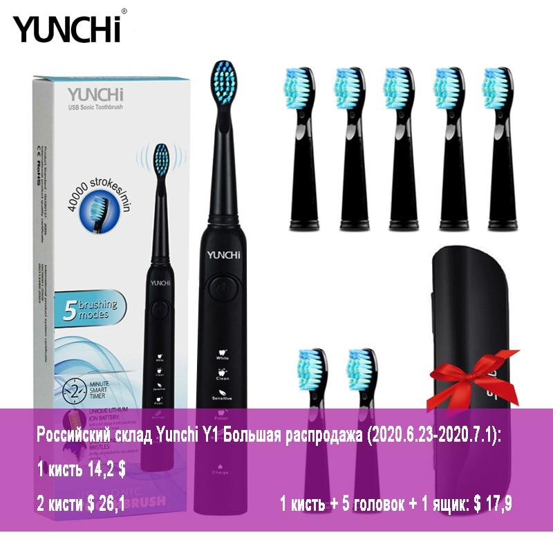 escova de dentes eletrica sonic adulto temporizador escova 5 modo carregador usb