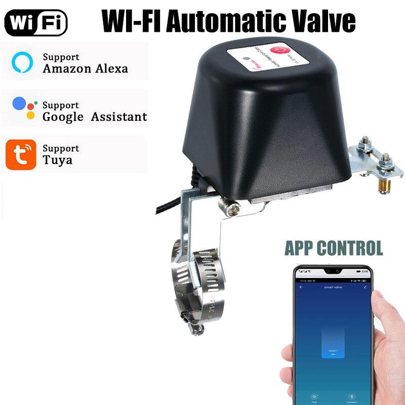 Tuya WiFi Water Valve Smartlife Auto Control Smart Gas Valve Remote Control Vioce Control By Alexa Echo Google Gas Shutoff Valve
