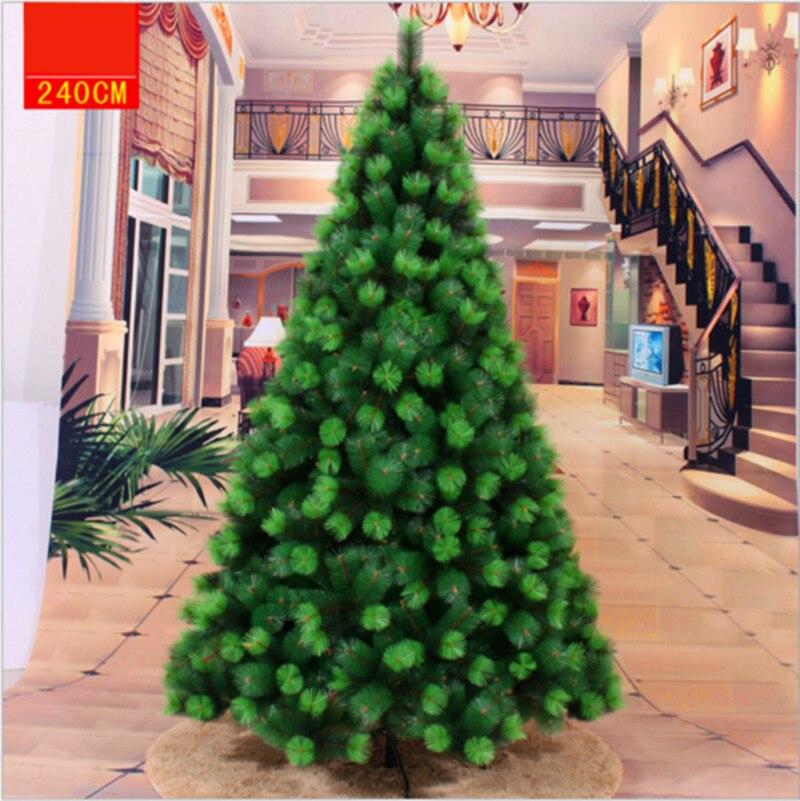 Рождественская елка, украшение на основе зеленых листьев из ПВХ, 90-300 см, Искусственные Рождественские елки на заказ, мода 2021