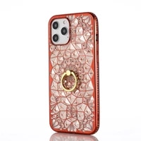 for iphone 12 11 pro max xs max xr x case luxury 3d soft ring for iphone 7 8 plus 6 6s ring glitter rhinestone stand cover