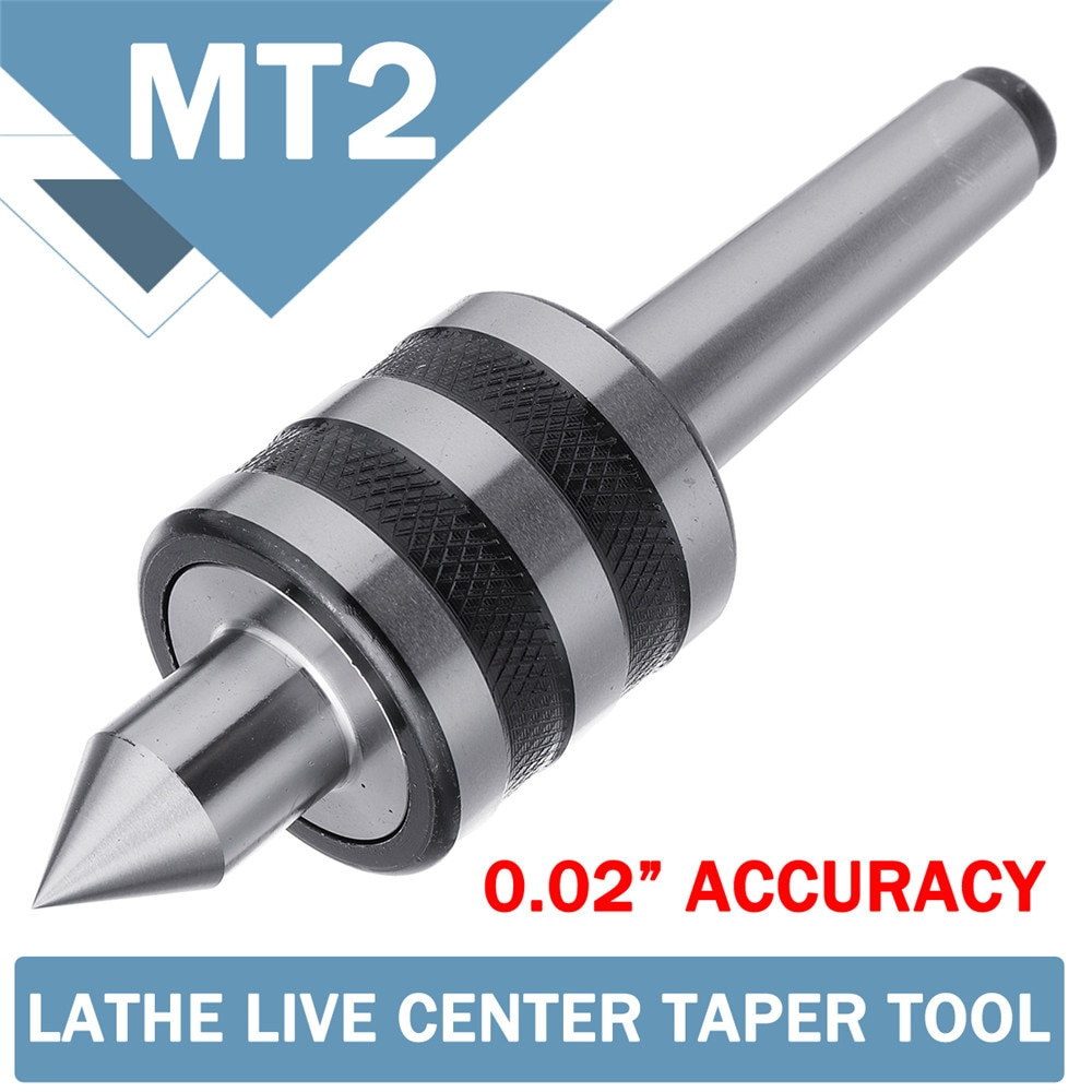 Centro de Fresado de torno en vivo MT2 de 0,02 pulgadas, alta precisión, para máquina de torno, Centro giratorio, Triple taladro con rodamiento, herramientas mecánicas
