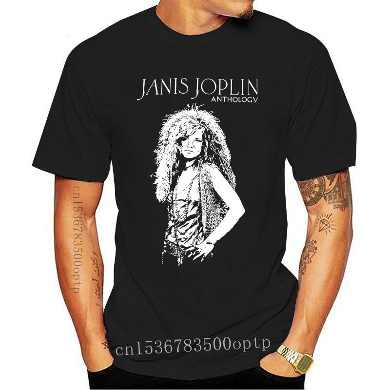 New Janis Joplin Anthology Vintage Retro Graphic Men Tee T-Shirt US Blues Rock Musicprinting short sleeve
