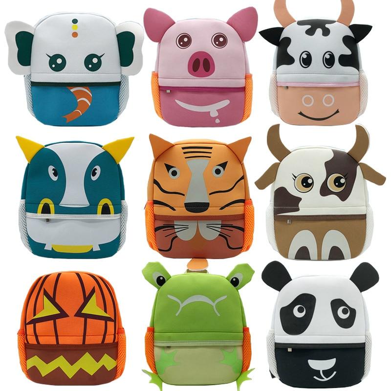 Zoo series cute children backpack Animal cartoon Girl Boys Backpack Toddler Kids School Bag Kindergarten Cartoon school