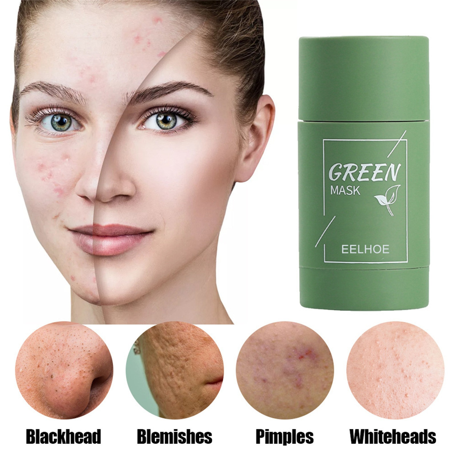 HAICAR Personal Skin Care Face masks Face cream green mask stick Green Tea Purifying Mask Oil Contro