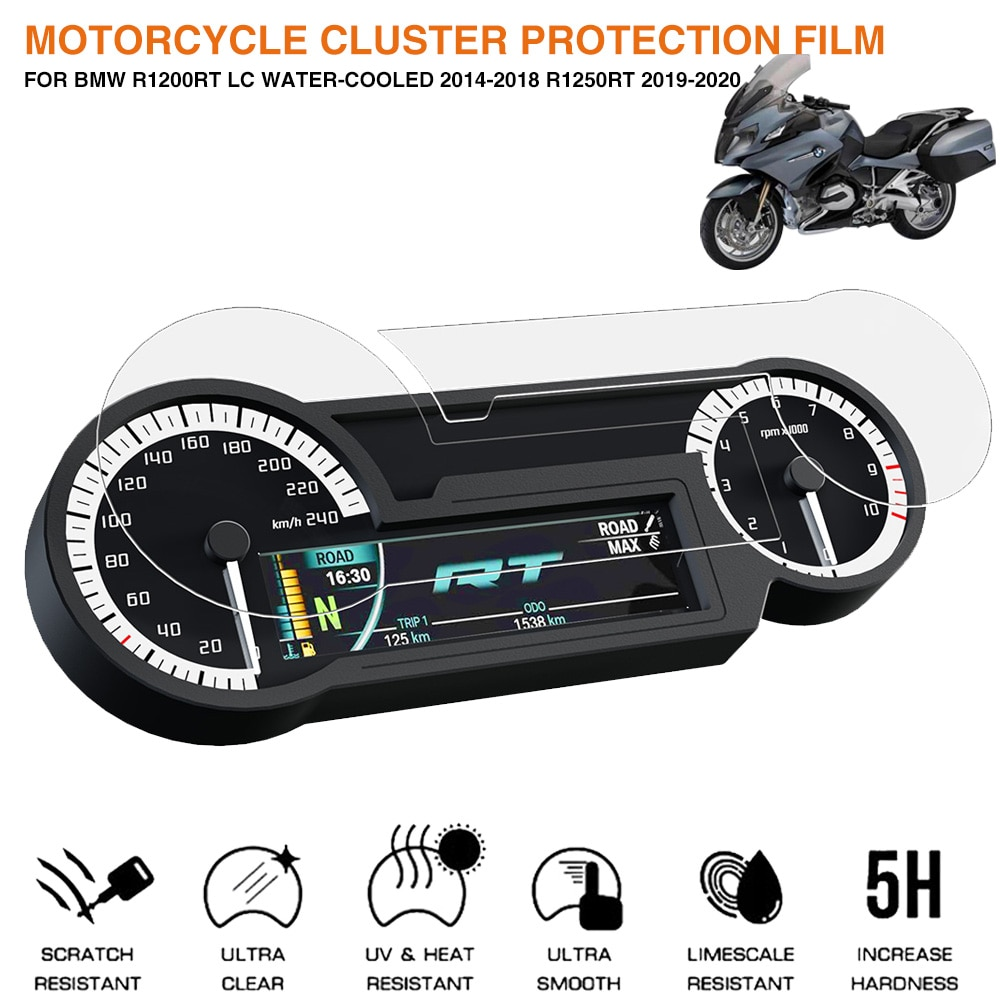 r1250 rt high quality motorcycle cnc aluminum frame hole cap cover for bmw r1250rt r1200rt lc 2014 2015 2016 2017 2018 2019 2020 Motorcycle Cluster Scratch Protection Film Screen Protector For BMW R1200RT LC Water-Cooled 2014-2018 R1250RT 2019 2020