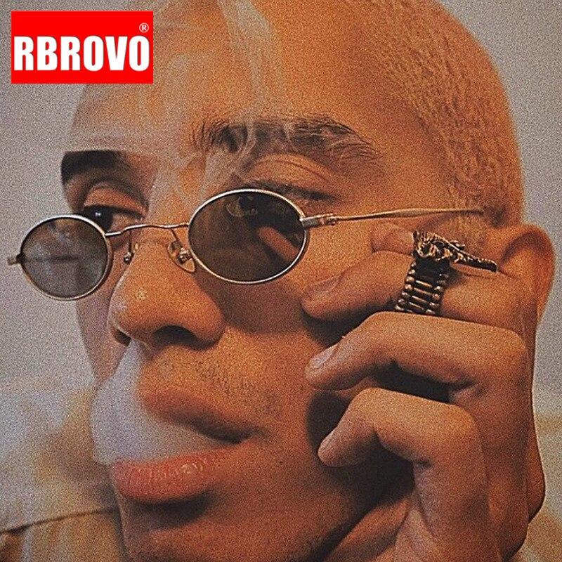 RBROVO 2021 Модные солнцезащитные очки в стиле панк мужские роскошные Винтажные Солнцезащитные очки Мужские брендовые дизайнерские очки для му...