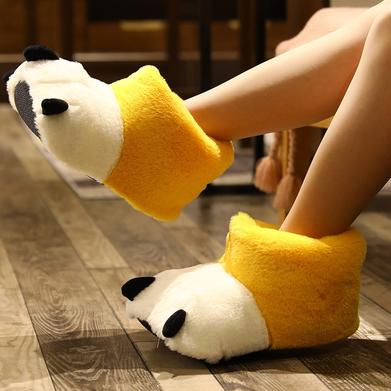 Winter Girl Cartoon Cotton Slippers Couple Cute Warm Plush Shoes Men's Indoor Comfortable Home Slides Women Soft Furry Slippers 2019 winter women home slippers family couple warm plush slippers indoor household woman shoes bedroom unisex comfortable soft