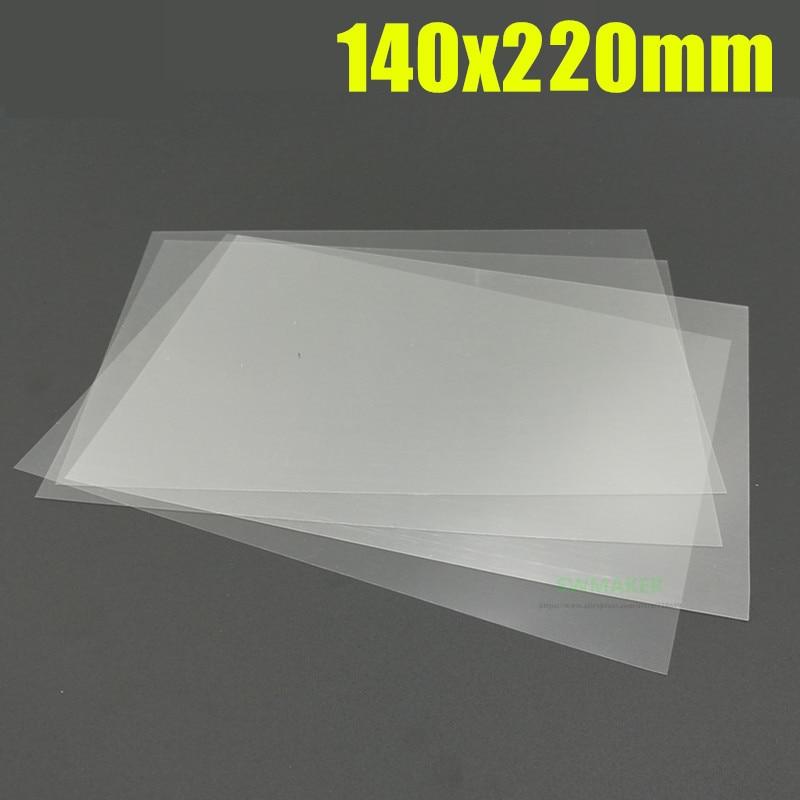 1 шт. Wanhao Дубликатор 7 D7/anycubic Photon принтер FEP лист FEP пленка 0,1 мм толщина 145x220 мм 145x220x0.1мм