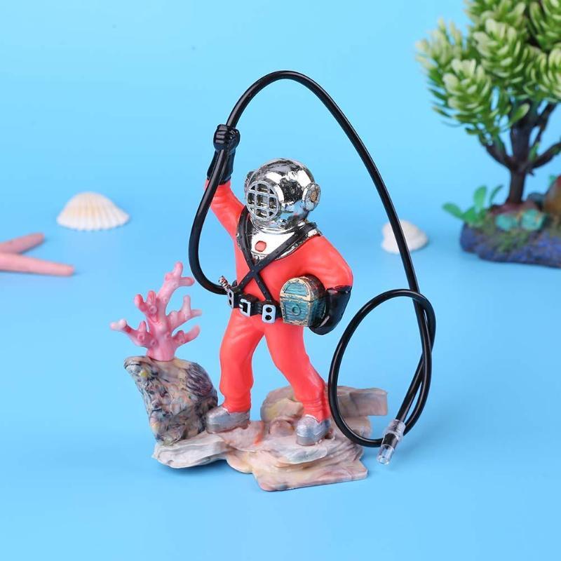 Treasure Hunt hombre acuario paisajismo juguete neumático buzo animación subacuática necesaria decoración de mascotas acuáticas Accesorios