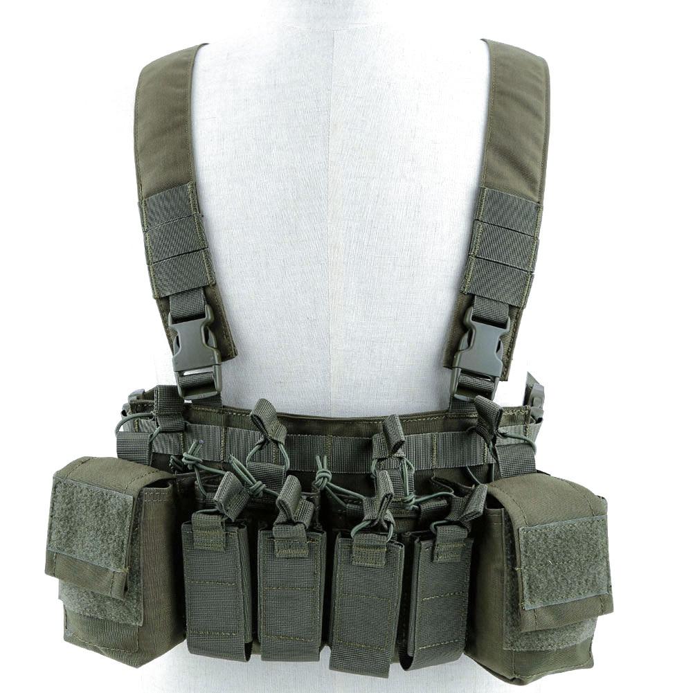Aparejo de pecho X chaleco táctico, armadura, arnés de placa, bolsa militar de caza, ligero 7,62 5,45 Nylon pistola MAG