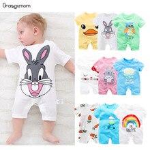 Été 2020 bébé body 0-24M court maison vêtements corps bébés nouveau-né bébé fille garçon vêtements coton infantile body anime costume