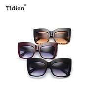 tidien retro women sunglasses vintage oversized ladies 2019 square fashion glasses for trendy brand designer driving clear 9039