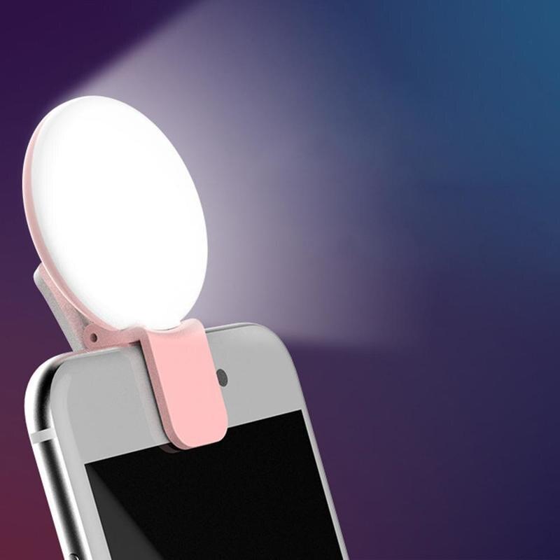 Светодиодный Круглый мини-светильник для селфи, портативная фотовспышка для внешней фотосъемки, может использоваться для светильник щения