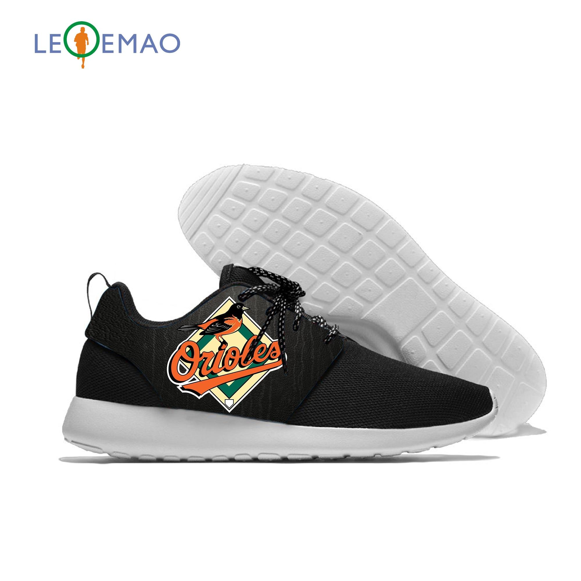 Breathable Leisure Sport Orioles Logo Sneakers Team Lightweight Casual Men/Women Running Baltimore Baseball Mesh Shoes