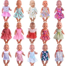 Doll Clothes Lace Dress Skirt Fit 18 Inch American&43Cm Baby New Born Reborn Doll Zaps Our Generatio