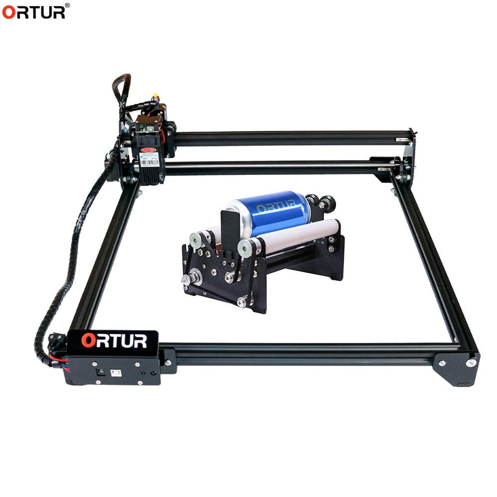 Máquina de Gravação a Laser Conectar a y Rotativo para Garrafas Ortur Laser Mestre Faça Você Mesmo Fácil Instalação Aixs Rolo Redondas Gravador 2 2w