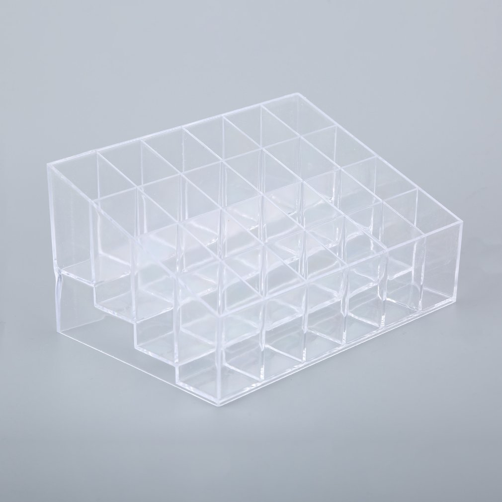 1pcs 24 Trapezoid Clear Makeup Cosmetic Organizer Storage Lipstick Holder Case Stand Drop Shipping Wholesale New ZE00100 LESHP