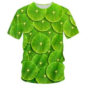 UJWI Brand Lemon Clothing Fruit Design Picture Green Dropshipping Wholesale T-shirts 3d Printed T Shirts Men Vendors Suppliers