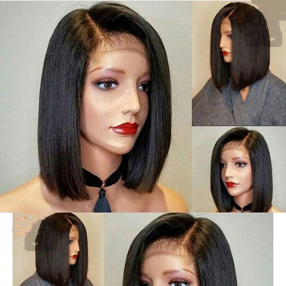 DLME-شعر مستعار صناعي قصير مقاوم للحرارة للنساء السود ، مقاس 13 × 4