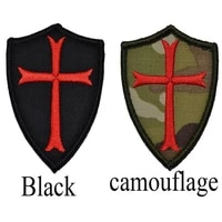 3d embroidered patch badge 1pc new knight templar knight shield shield uniform morale chapter icon 7 5 6 5cm