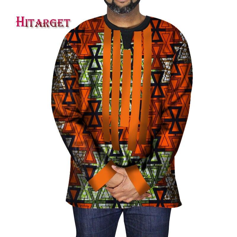 2019 Dashiki ropa tradicional africana para hombre, tops de manga larga raditional para hombres, ropa Ankara de talla grande para fiesta WYN550