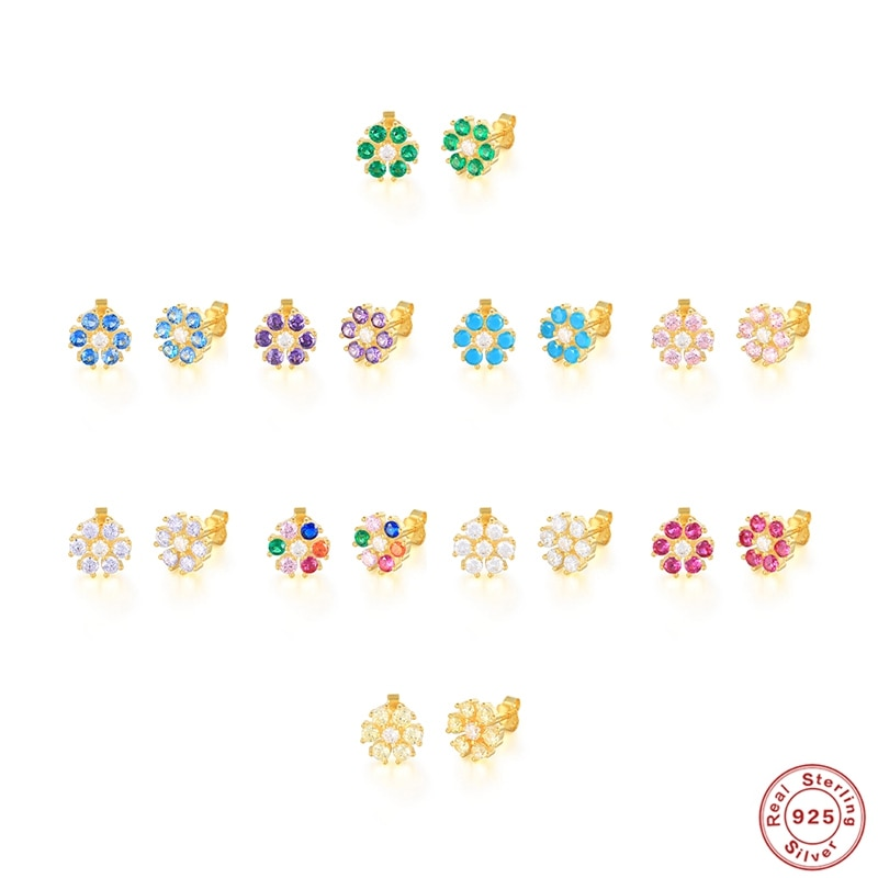 boako-1-пара-925-серьги-подвески-с-цветочным-украшением-из-чистого-серебра-разноцветный-Цирконий-Серьги-со-шпилькой-для-женщин-мини-серьги-гво