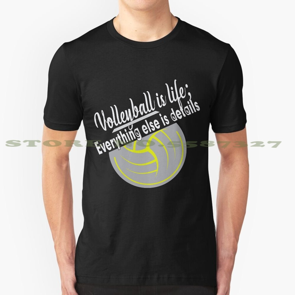 Voleibol es la vida todo lo demás es detalles verano divertida camiseta para hombre mujeres voleibol jugador de voleibol de temporada voleibol