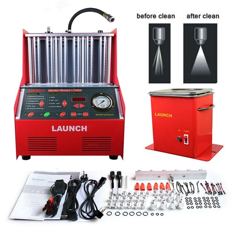 Launch CNC 602A probador de limpiador de inyectores de combustible máquina de limpieza inyector boquillas 6-cilindro Launch CNC602A CNC-602A