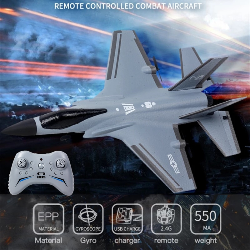 Simulation Six Axis Gyroscope Rcing RC Fighter Jet 360 Degree Back Somersault 3 Mode Switch Dual-engine Remote Control Airplane