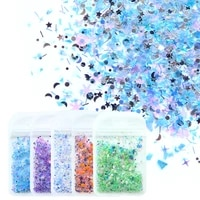 holographic star moon various shapes nail art glitter flakes 3d colorful sequins round paillette polish manicure nail decoration