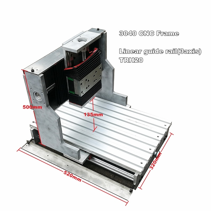 Riel de guía lineal cnc 3040, marco de 3 ejes para cnc roter, carpintería, fresadora cnc, máquina de grabado