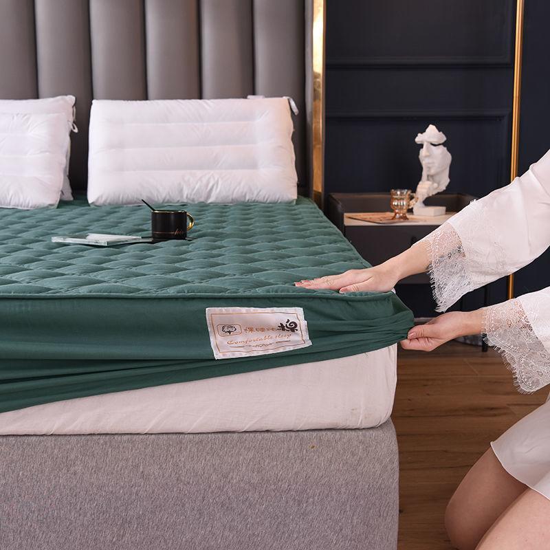 عالية الجودة 100% القطن سميكة مبطن غطاء مرتبة بلون مكافحة سوس السرير غطاء وسادة واقية غير المدرجة المخدة