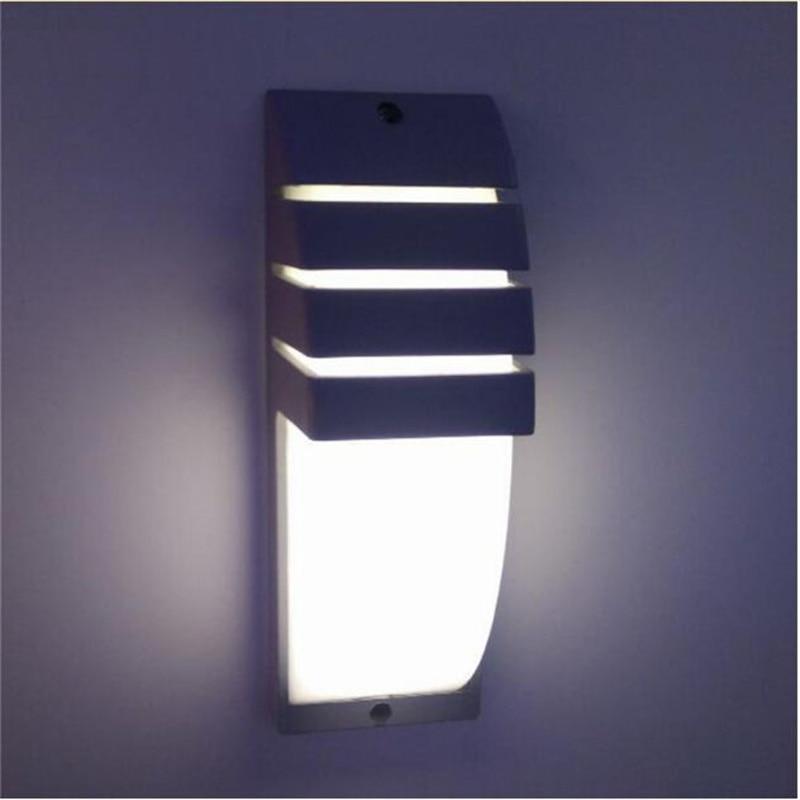 LED aluminum alloy courtyard modern wall lamp waterproof  porch lamp AC90-260V 9W wall lamp garden corridor outdoor lamp enlarge