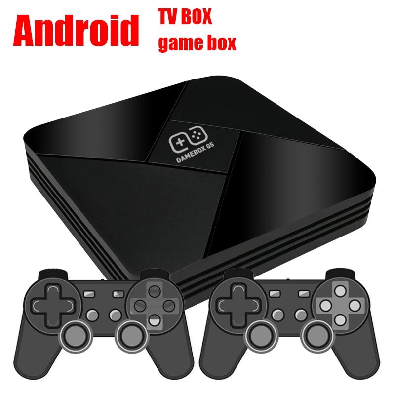 نظام مزدوج تي في بوكس أندرويد + هدمي ممر لعبة فيديو وحدة التحكم 2 + 16G أمد Cortex-A53 رباعية النواة المدمج في 5600 ألعاب مع اثنين من غمبد