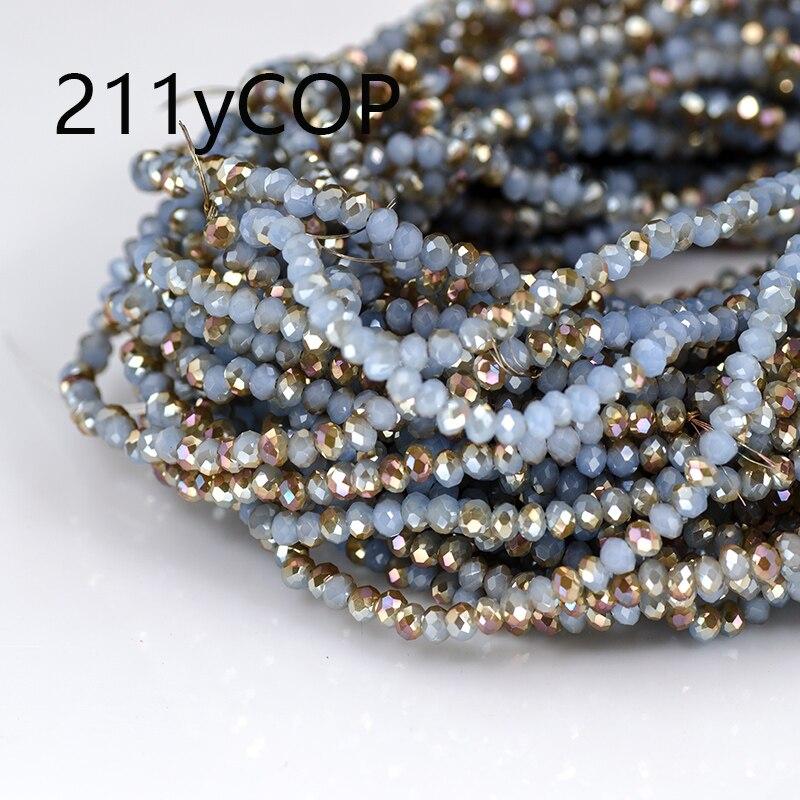 5A qaulity! !! 3mm 140 peças/lote bicone contas de cristal corte facetado contas de vidro redondo diy vestuário costura