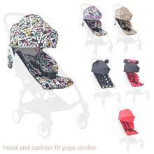 Bébé poussette capuche et matelas pour Yoya Yoyo dos avec poches en filet landau coussin coussin parasol auvent Yoya poussette accessoires