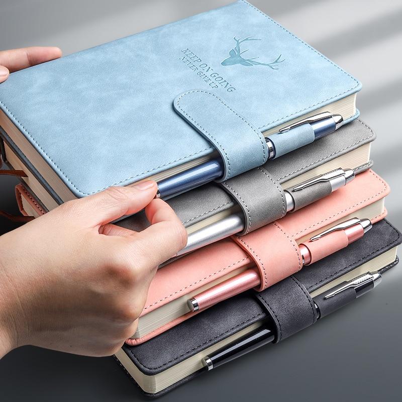 Блокнот A5 из искусственной кожи, роскошный Ежедневник для бизнеса, офиса, работы с оленем, блокнот, дневник, принадлежности для школы, Канцто...