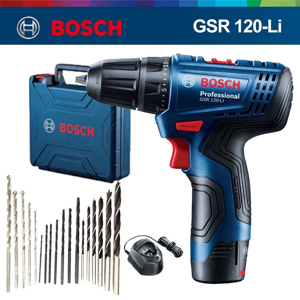 Bosch профессиональная электрическая дрель GSR120-LI 12V аккумуляторная электрическая ручная дрель мульти-Функция, для домашнего использования, отвертка Мощность инструменты