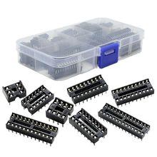 Практичный бутик 66 шт./лот DIP ИС адаптер припоя Тип гнездо комплект 6,8,14,16,18,20,24,28 Pin для arduino PCB Diy Kit