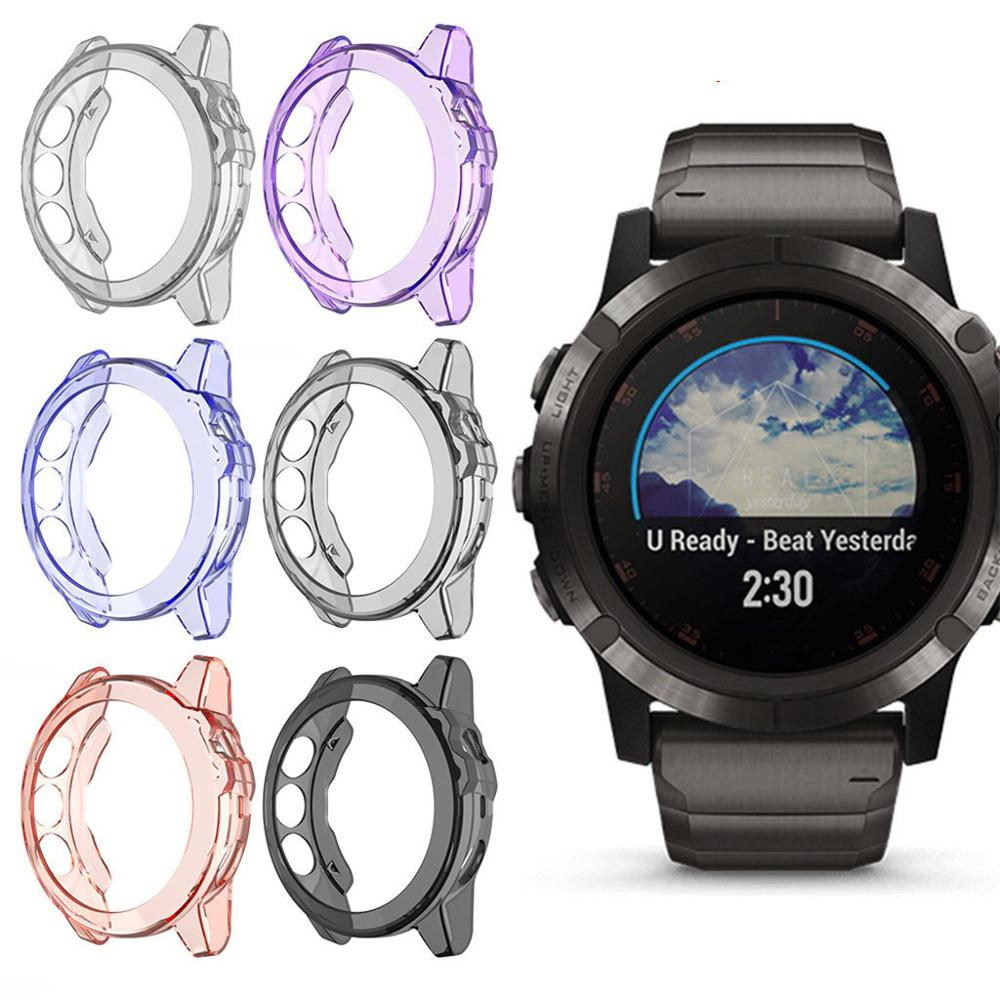 Para Garmin Fenix 6 6s 6x Pro TPU cubierta de la caja del reloj Smart Bracelet funda protectora de repuesto de la carcasa a prueba de golpes