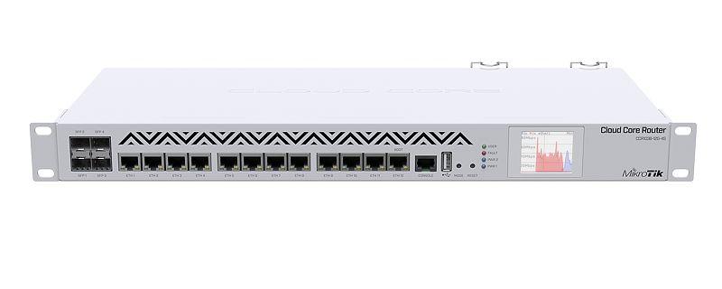 Mikrotik CCR1036-12G-4S-EM Router 1U rackmount, 12xGigabit Ethernet, 4xSFP cages, LCD, 36 cores 1.2GHz CPU, 8GB RAM, RouterOS L6 enlarge