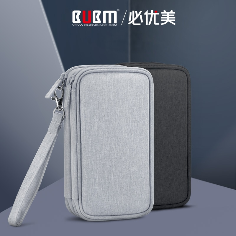 BUBM HDD Case Protect Bag Box USB Cable Charger Pouch Power Bank Storage Case for 20000mAh Romoss Ch