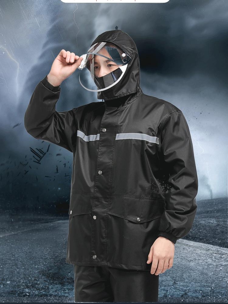 Reusable Polyester Raincoat Men Portable Adult Double Brim Fashion Raincoat Motorcycle Suit Antipioggia Waterproof Poncho AG50YY enlarge