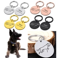 free engraved pet dog id tag personalized cat puppy id tag pet dog collar accessories custom dogs anti lost name tags pendant